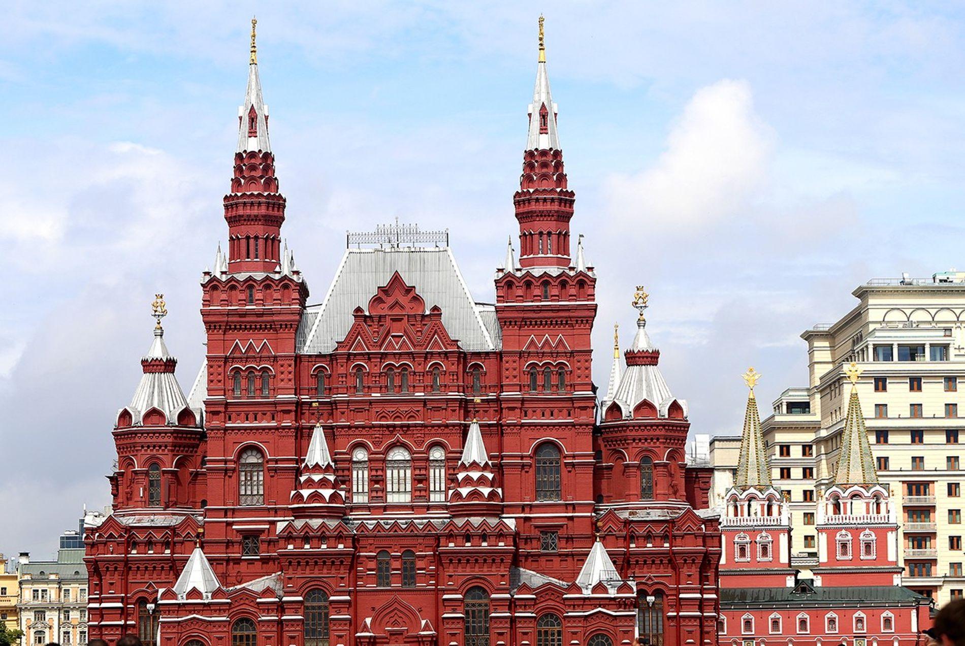 Das Staatliche Historische Museum am Moskauer Roten Platz ist im historistischen Stil gebaut.