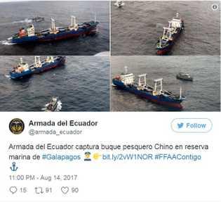 Tweet der ecuadorianischen Marine