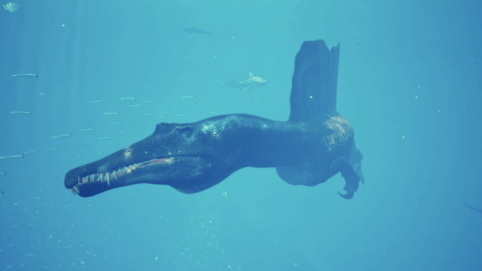 Ein schwimmender Urzeitjäger erwacht zum Leben
