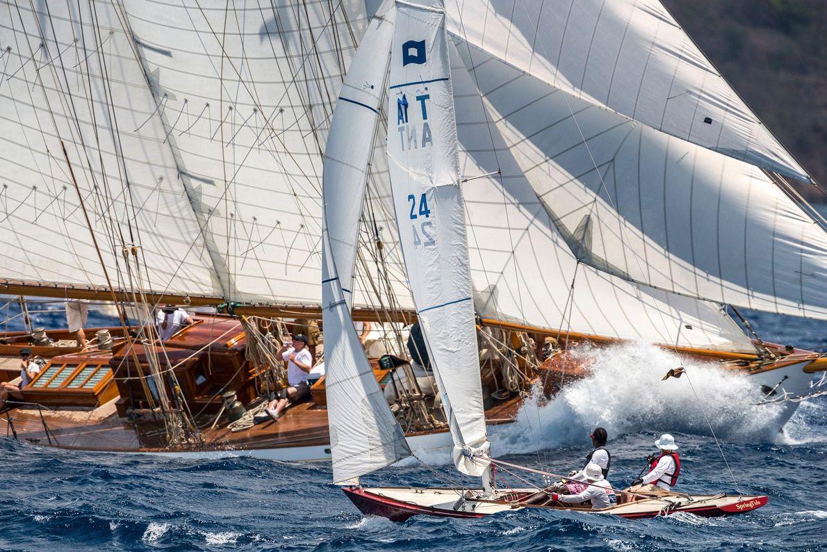 """""""Dieses Foto entstand bei der Antigua Classic Yacht Regatta in der Karibik. Der Wind wehte mit ..."""