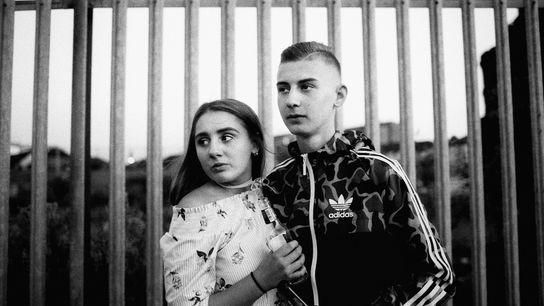 Belfast, Shankill, 2017. Megan und Joshua.