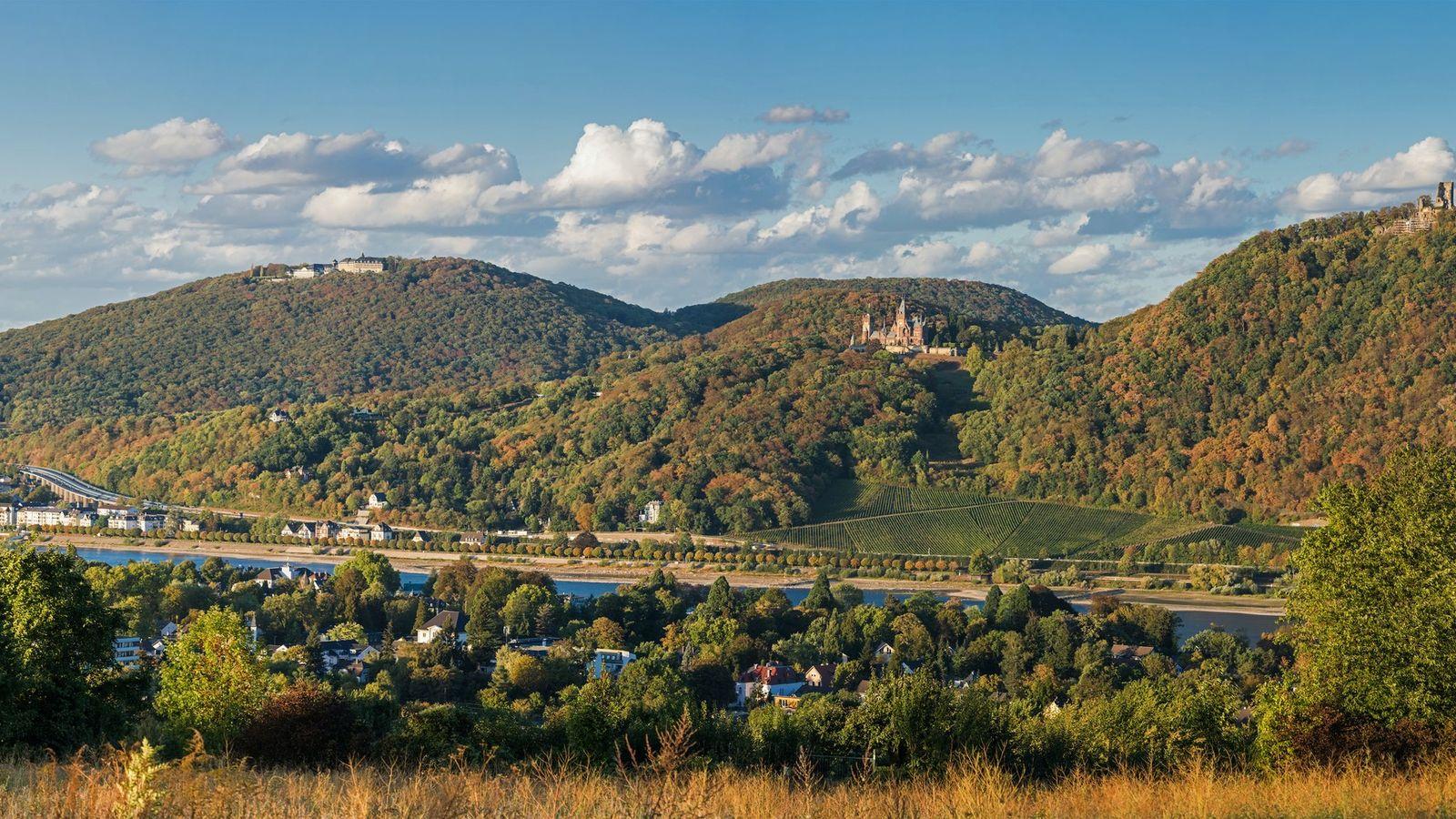 Sagenhaftes Siebengebirge: Um die bewaldeten Hügel am Rhein ranken sich viele Legenden und Sagen.