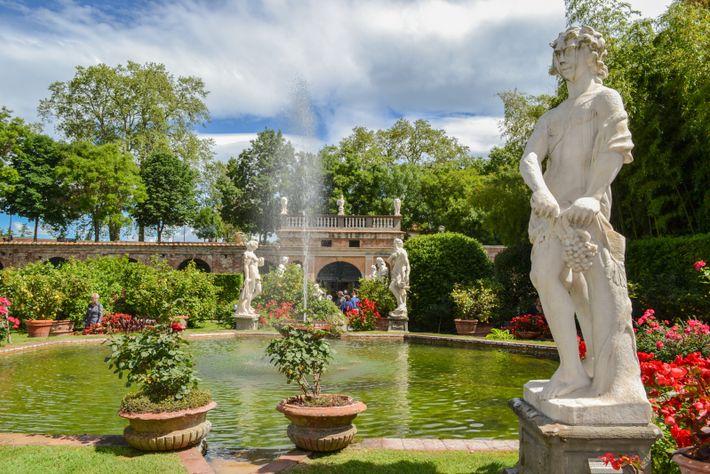 Historischer Barockgarten des Palazzo Pfanner