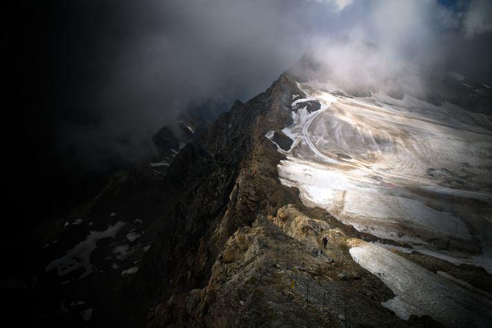 Kitzsteinhorn im Nebel