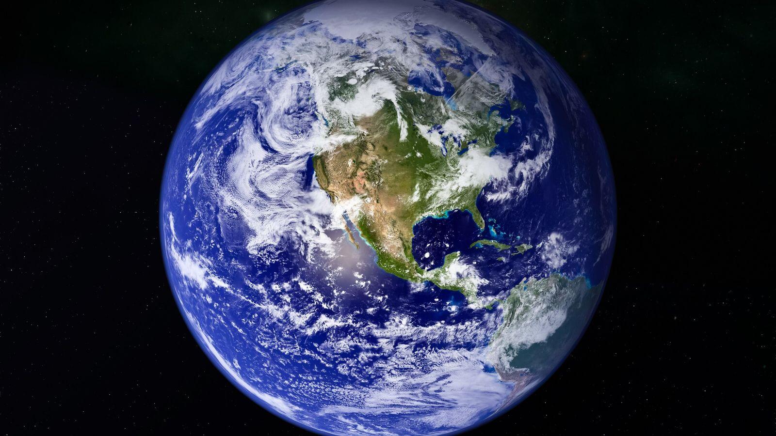 Erde aus Weltraumsicht