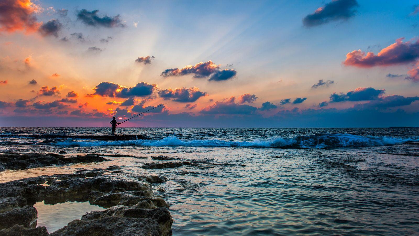 Wanderweg Yam le Yam beginnt am Meer