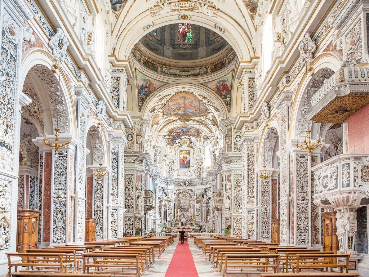 Innenraum der Casa Professa auf Sizilien