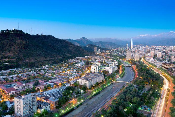 Foto des Stadtteils Bellavista in Santiago, Chile