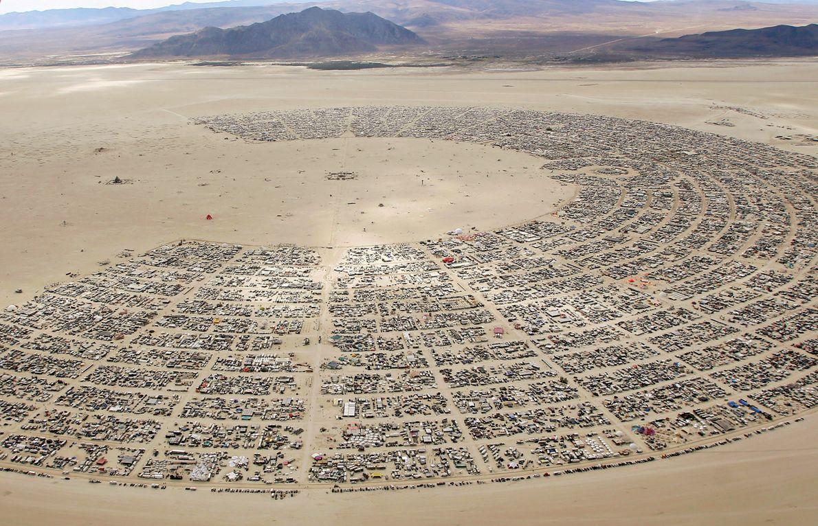 Luftaufnahme Burning Man