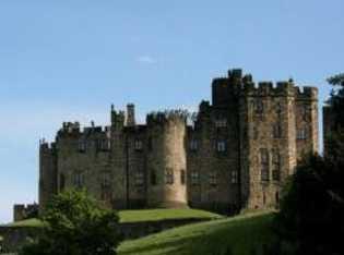 Das Alnwick Castle diente als Kulisse für die Außenaufnahmen.
