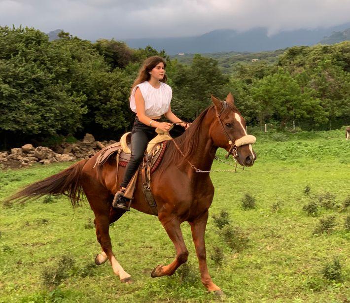 Bei einem Ausritt in die hügelige Gebirgslandschaft von Tepoztlán kann man als Besucher die mexikanische Natur geniessen ...