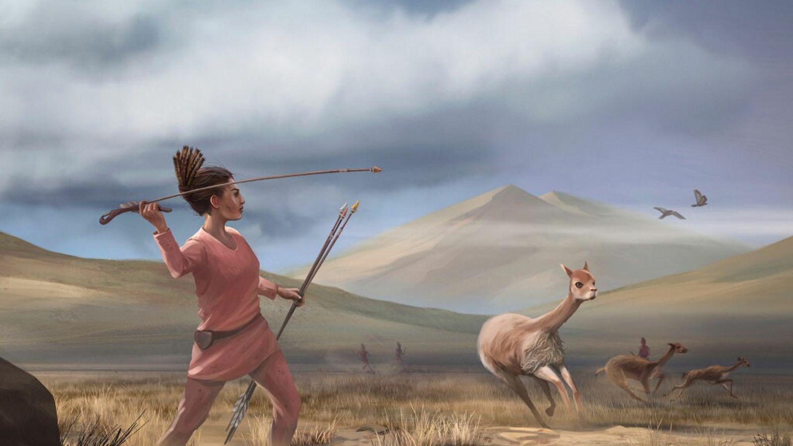 Jagd in den Anden Südamerikas