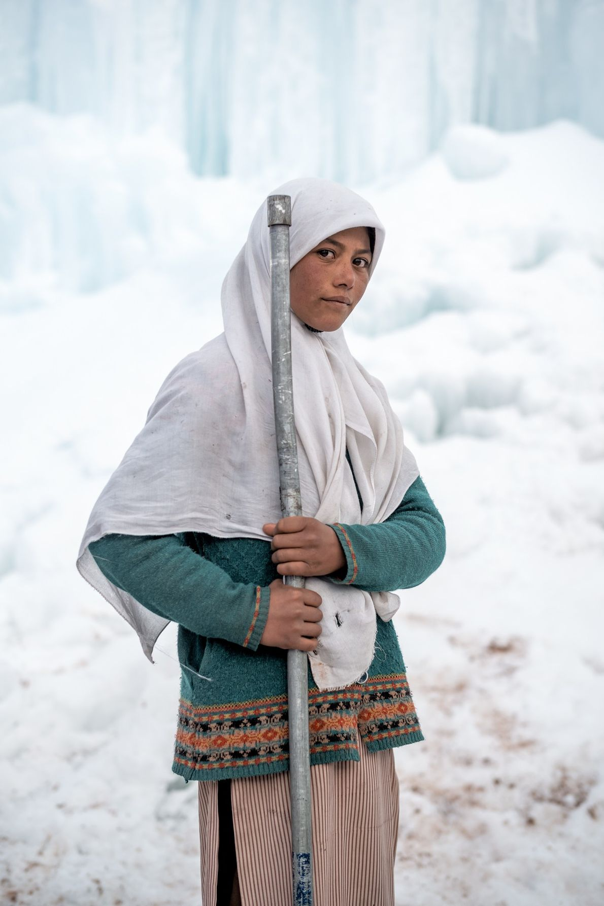 Farida Batool is a student at the middle school in the village of Karith, high in ...