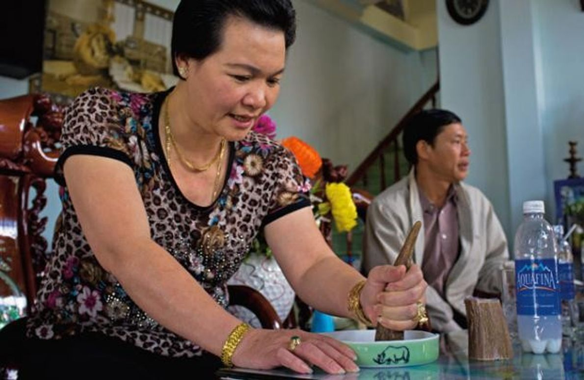 Asiaten schätzen das Horn als Heilmittel für Beschwerden