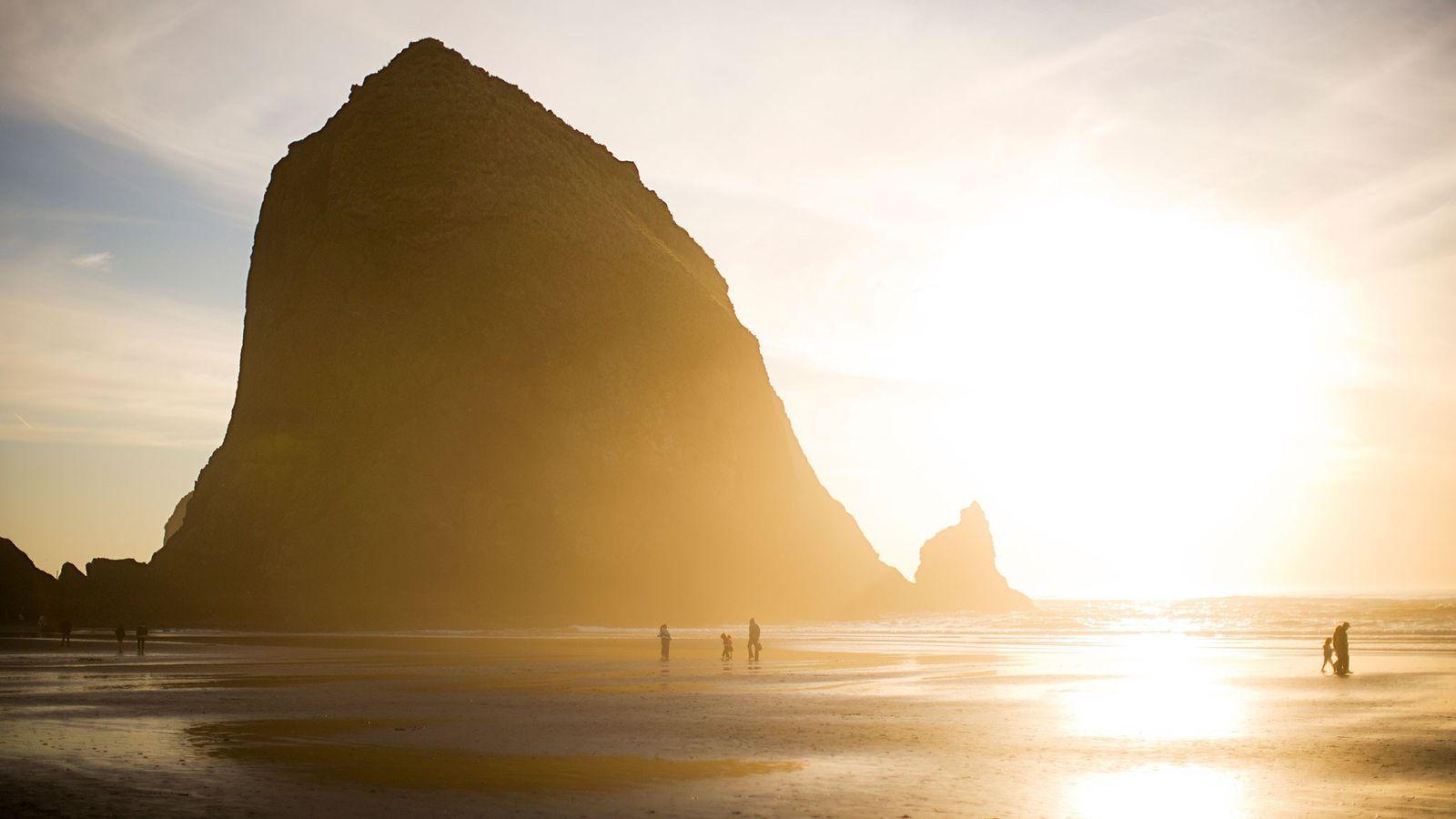 Die Küste von Oregon könnte ein Nebenweg für die ersten Amerikaner gewesen sein, die der nährstoffreichen ...