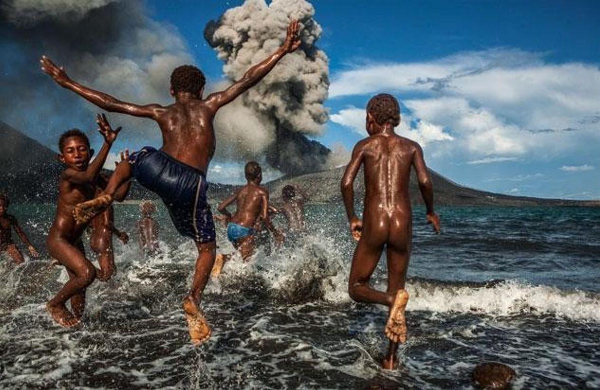 Badespaß am Tavurvur Vulkan
