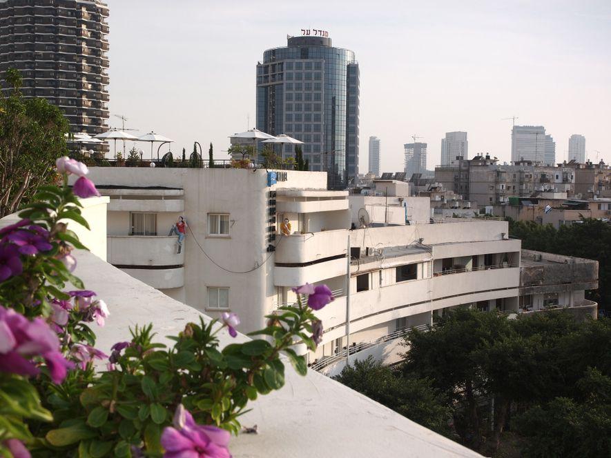 """Die """"Weiße Stadt"""" in Tel Aviv ist eine Sammlung von mehr als 4.000 Gebäuden im Bauhaus-Stil, ..."""