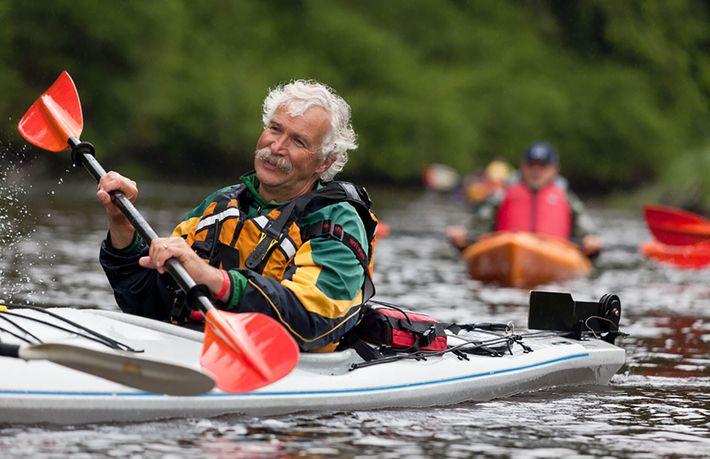 Dean Dougherty ist der leitende Guide der Knight Inlet Lodge, einem ökologischen Hotel im Herzen der ...
