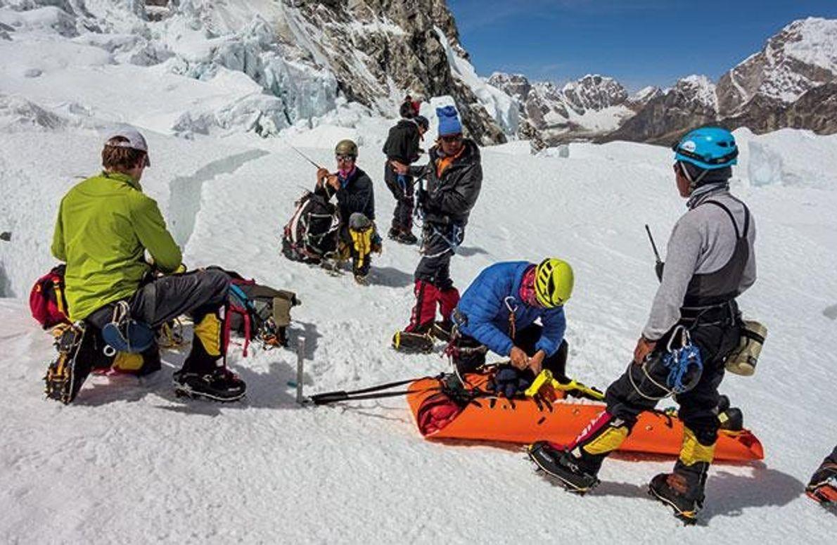 Bergung am Everest