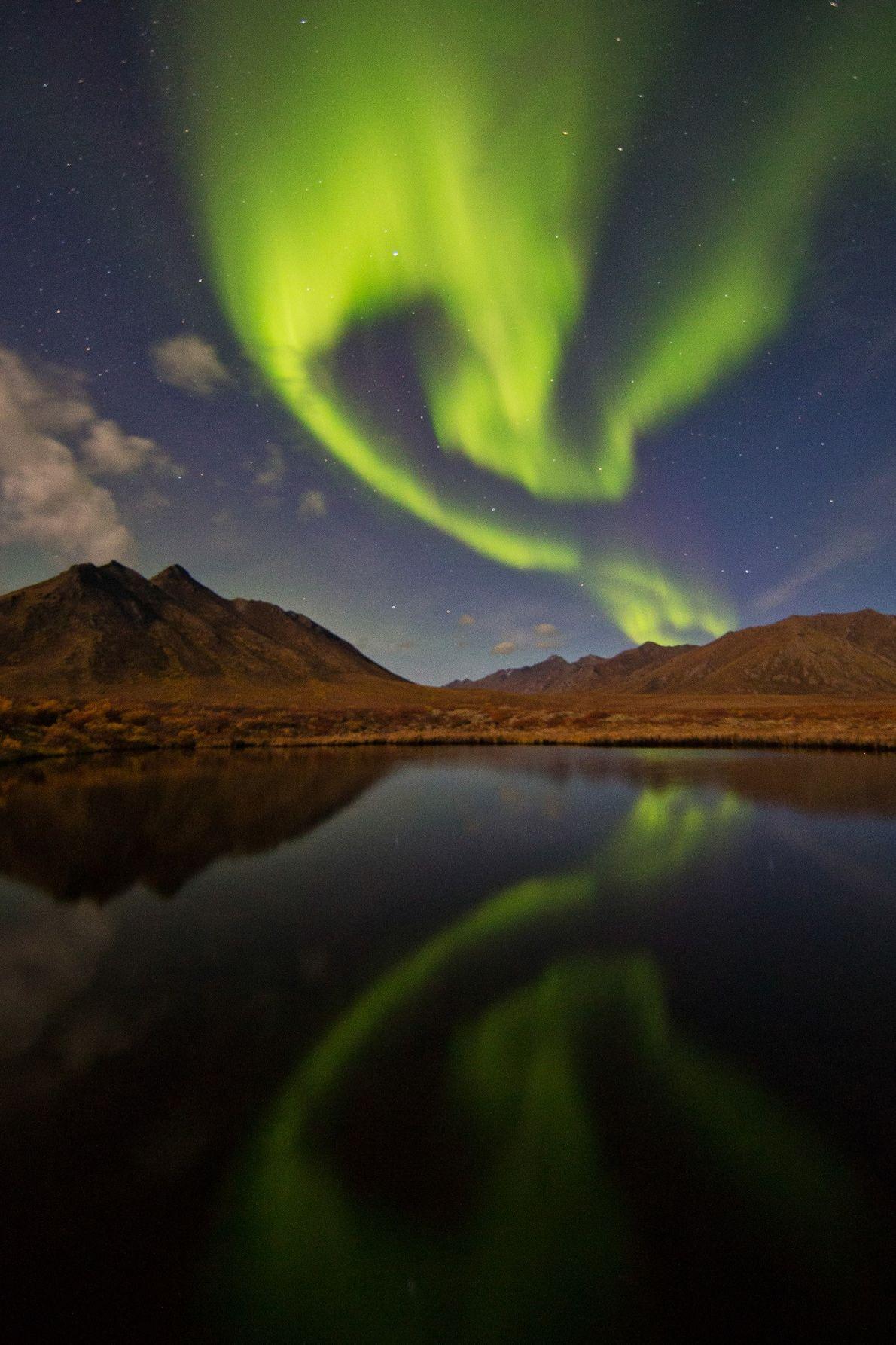 Im kanadischen Yukon-Territorium teilten sich die Wolken, als ein Sonnensturm auf die Erde traf. In der ...