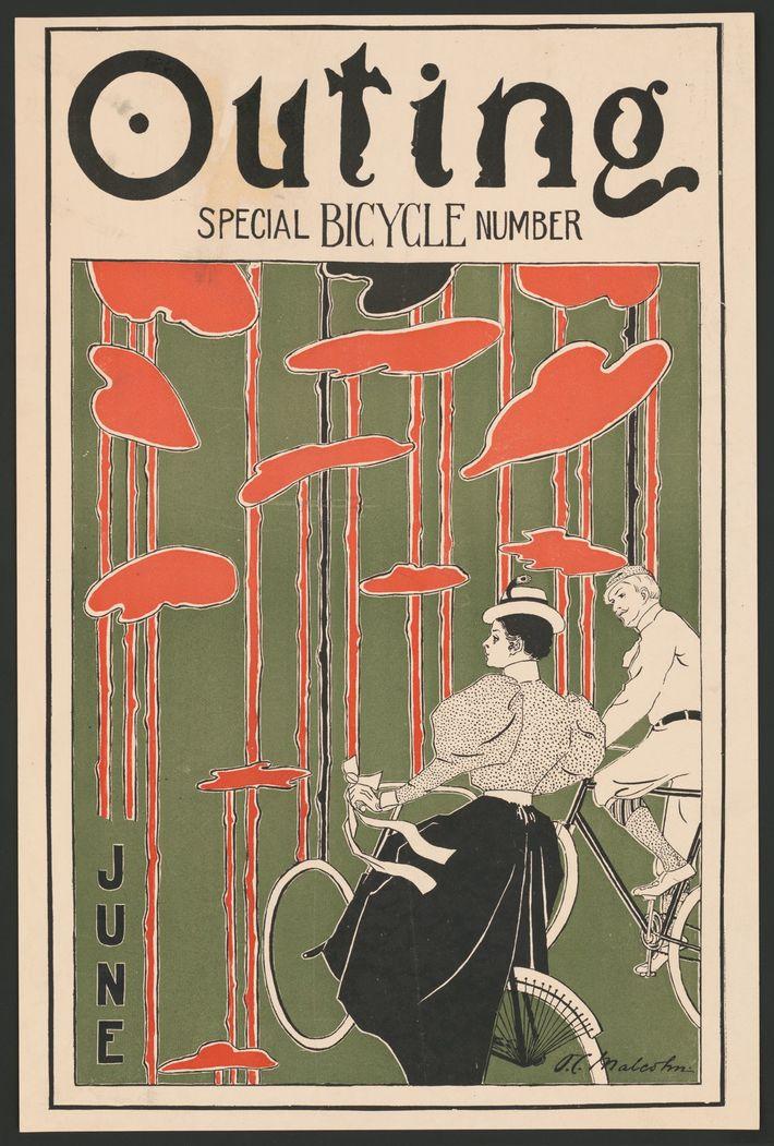 In den 1890er Jahren wurde das Fahrrad zum Symbol der Neuen Frau, die unabhängig und fortschrittlich ...