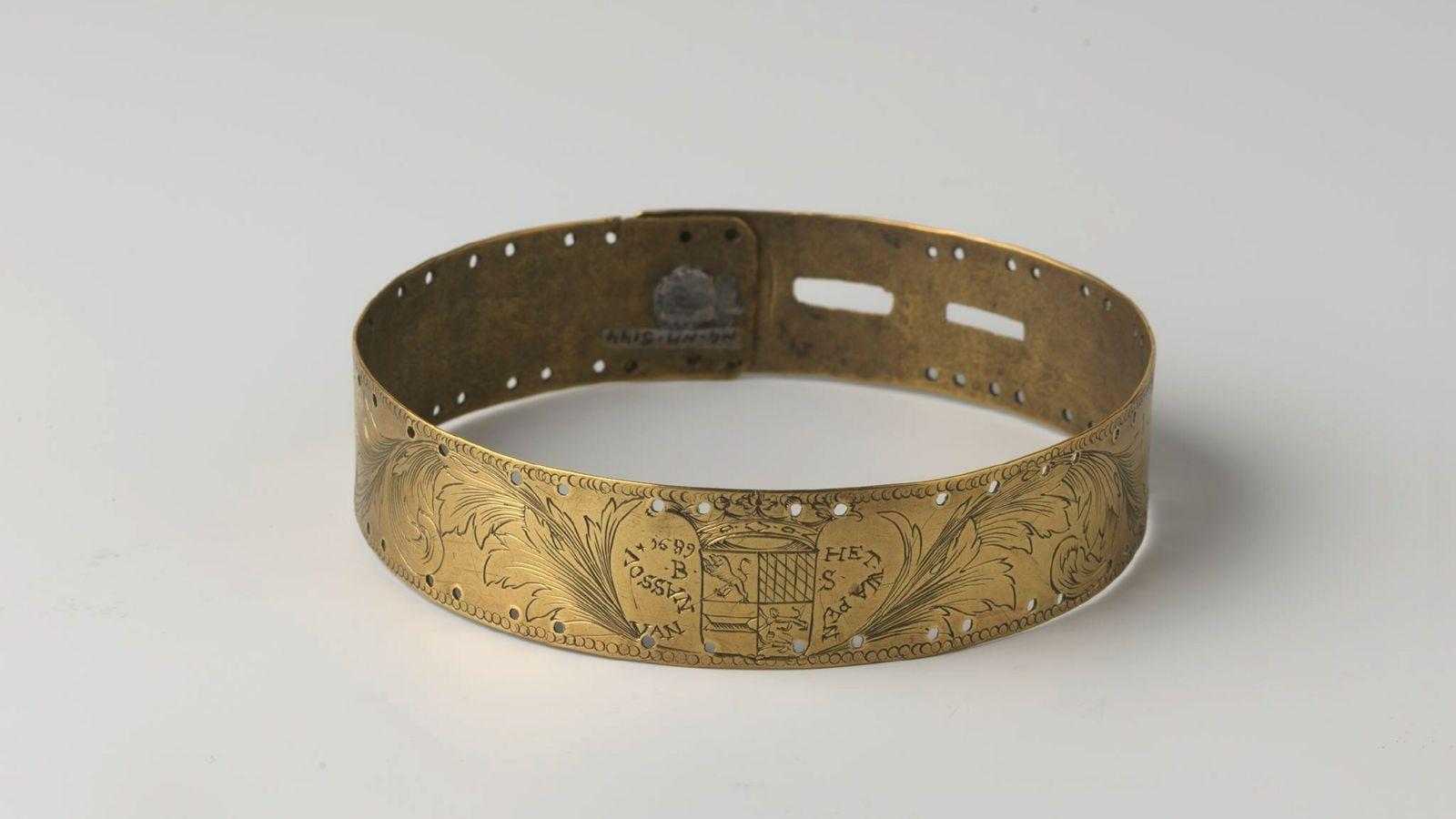 Das reich verzierte Halsband im Rijksmuseum in Amsterdam