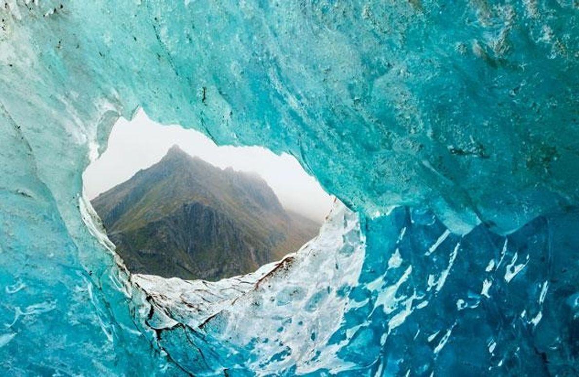 Blick durch den Gletscher