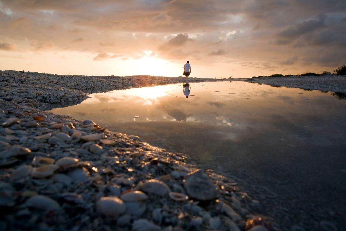 Foto des Sonnenuntergangs am Bowman's Beach, Sanibel Island, Florida