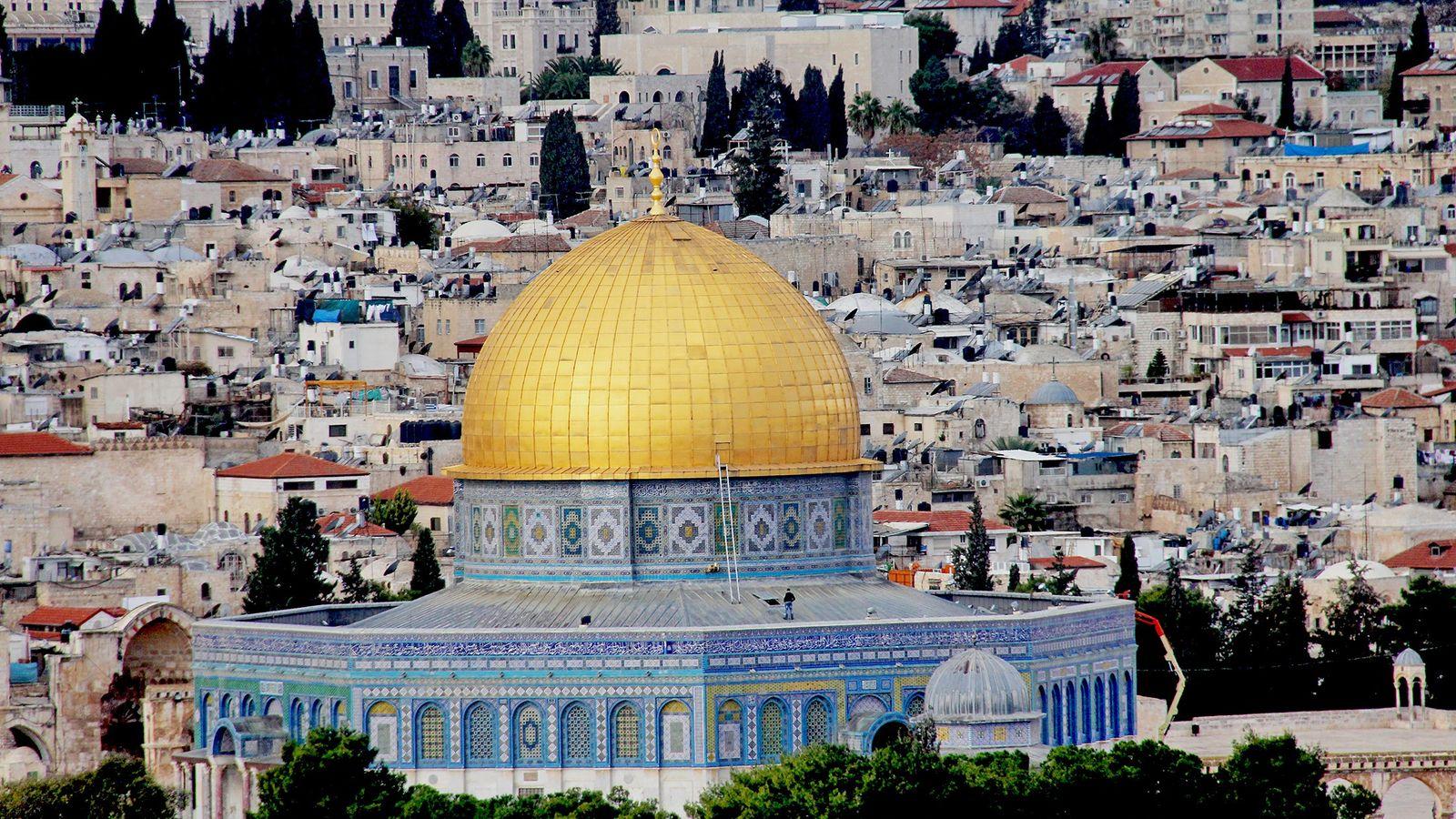 Der Felsendom liegt auf dem Tempelberg in Jerusalem