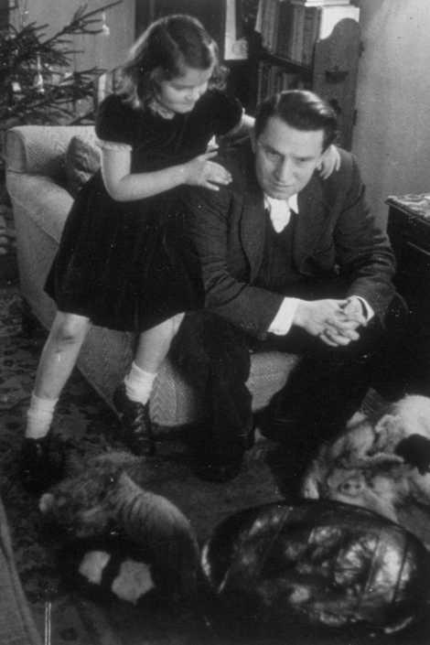 Der tschechische Exilant Josef Korbel mit seiner Tochter Marie