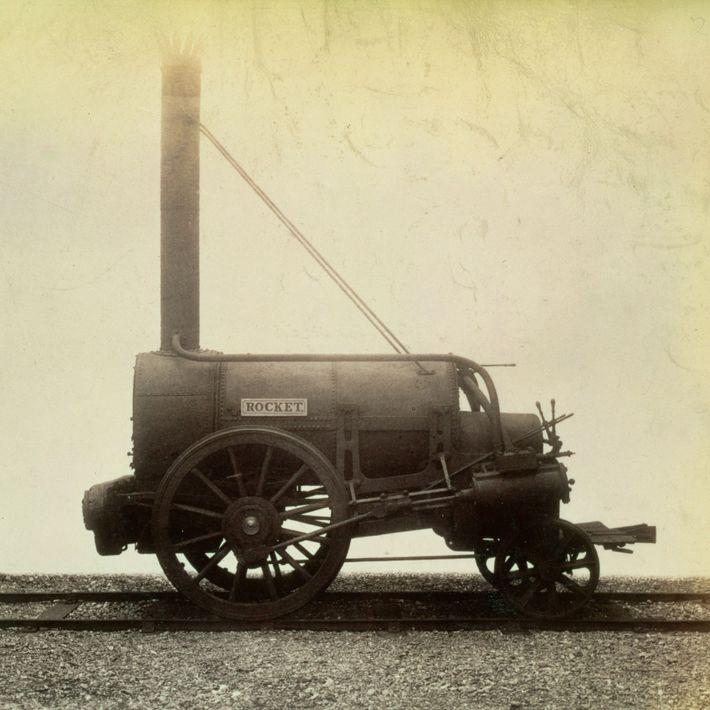 Altes Bild einer Lokomotive