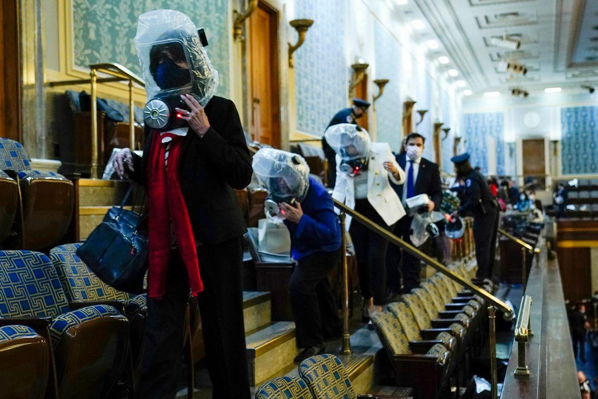 Evakuierung der Abgeordneten des Kapitols