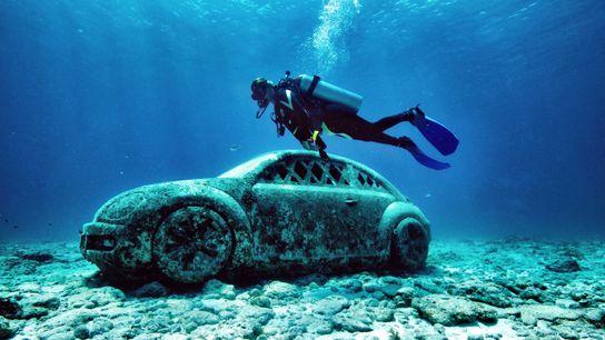 Unterwassermuseum für zeitgenössische Kunst in Cancún, Mexiko
