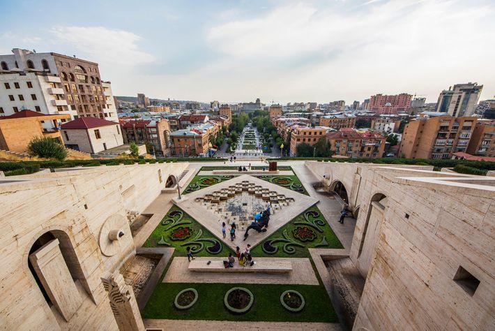 Foto der Jerewan-Kaskade in Jerewan, Armenien