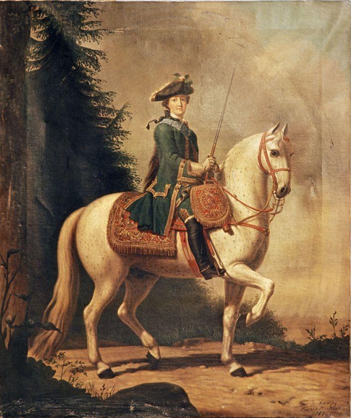 Das Reiten war das Lieblingshobby von Katharina der Großen.