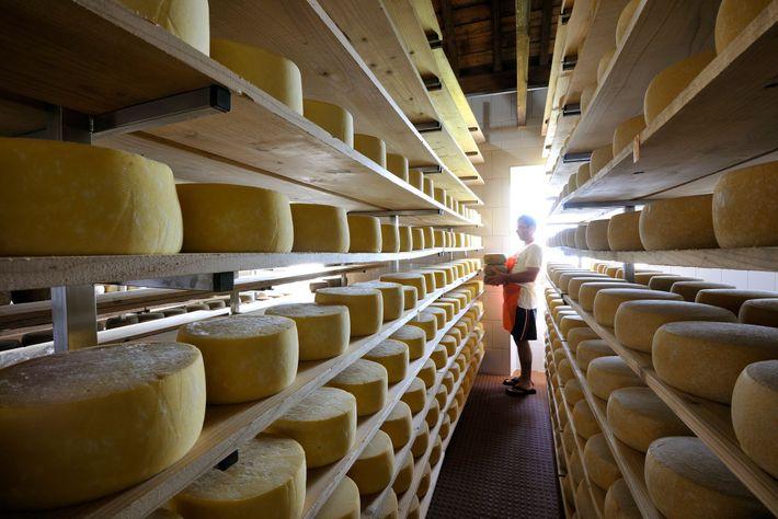 Ein traditioneller Käsehersteller auf São Jorge