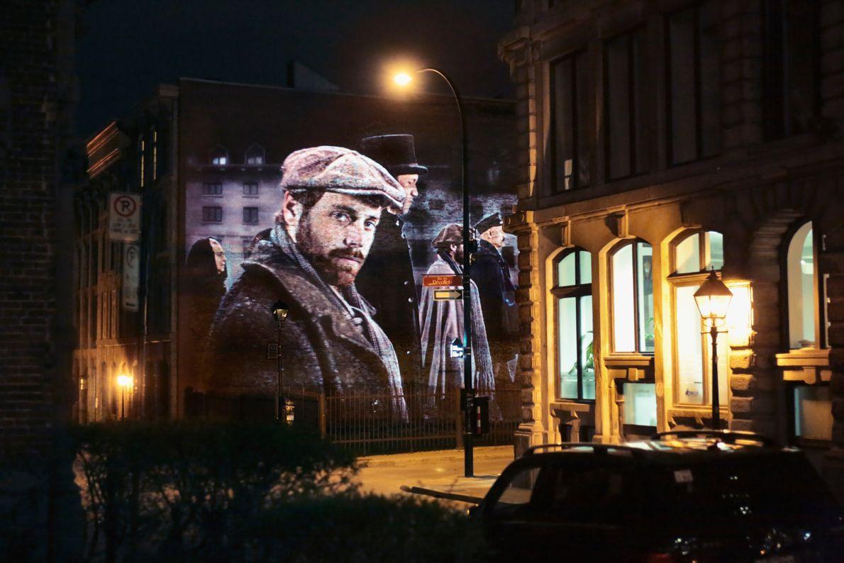 Dank der Outdoor-Projektionen von Cité Mémoire können Besucher mehr über die Geschichte der Stadt und jene ...