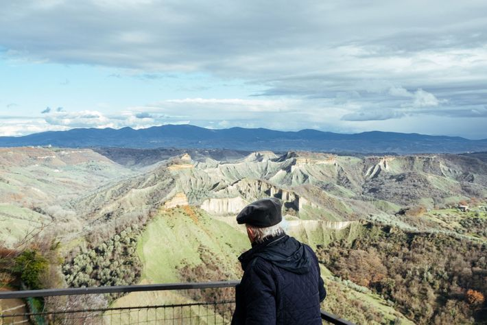 Rocchi gazes at the valley surrounding Civita from his balcony. He knows every corner, rock, and ...