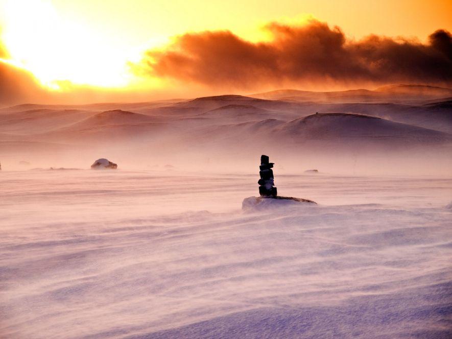 Das Hardangervidda ist ein Plateaufjell in Norwegen und diente als Drehort für den Eisplaneten Hoth. Die ...