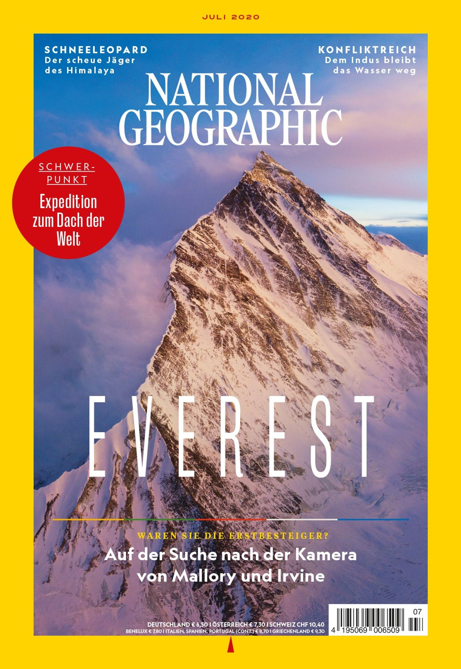 National Geographic-Magazin Juli 2020, Titelthema: Everest