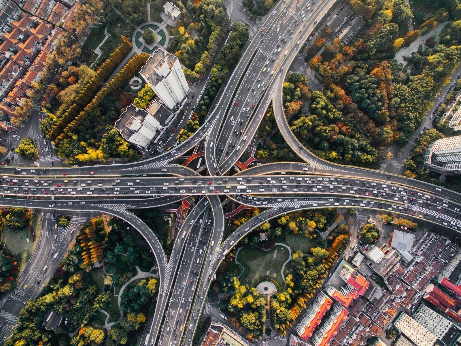 Luftaufnahme von urbanem Gebiet
