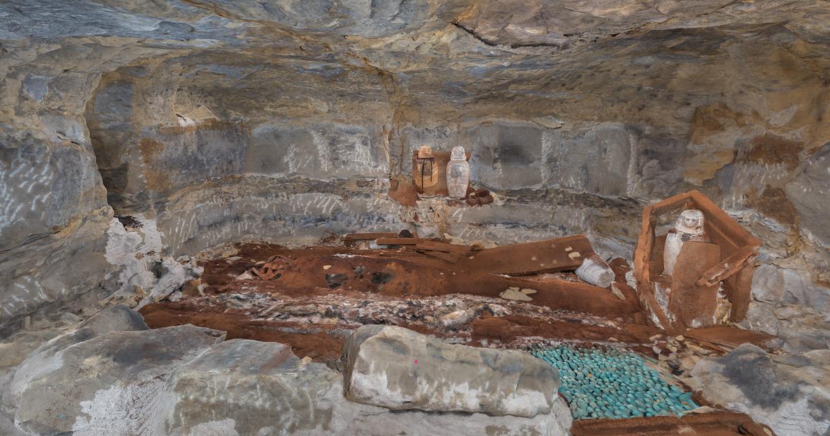 Grabkammer, in der die Priesterin Didibastet beerdigt wurde