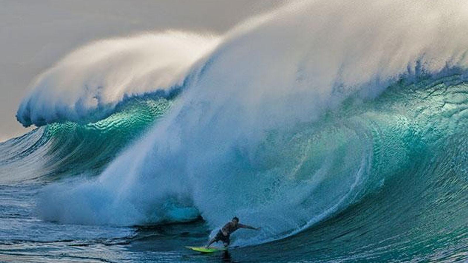 Die berühmte Pipeline an der Nordküste von Oahu