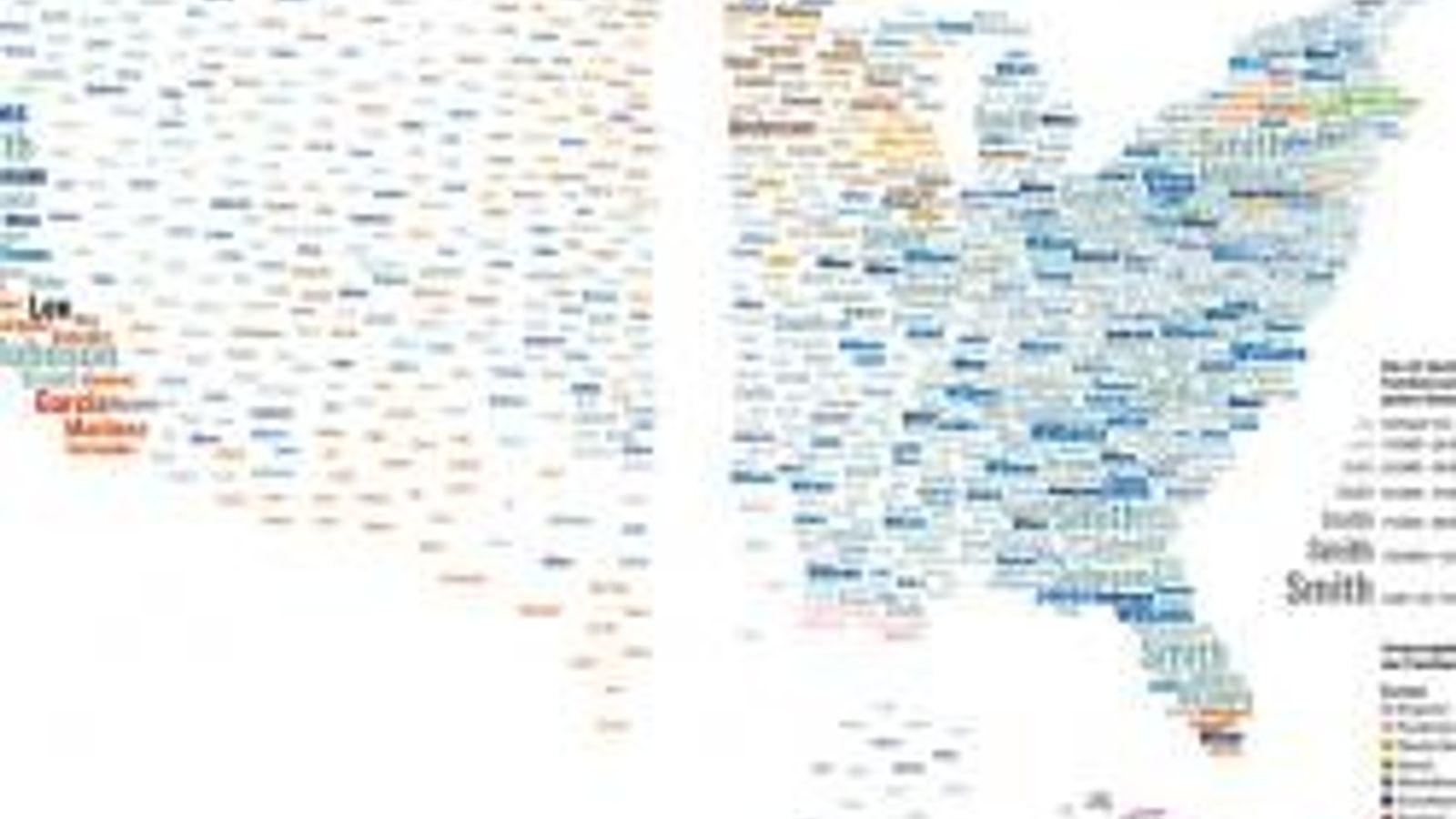 Namenswelten: Wer mag, kann seinen eigenen Namen auf einer Website eingeben und schauen, wo auf der ...