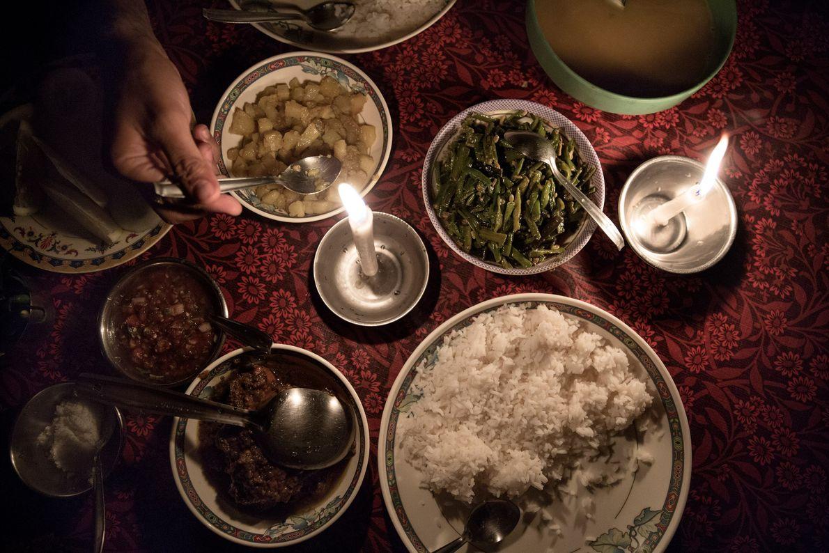 Traditionelles Abendessen