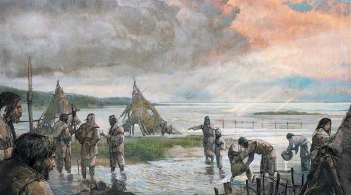 Riesige Flutwellen aus Nordamerika und Norwegen besiegelte das Schicksal der Flüchtenden.