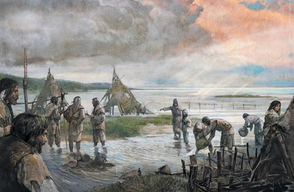Doggerland um das Jahr 8000 v. Chr.