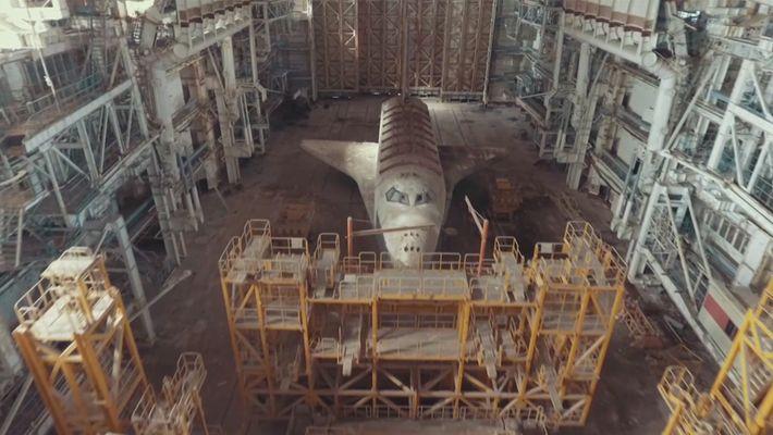 Die unheimlichen Sowjet-Spaceshuttles in der kasachischen Wüste