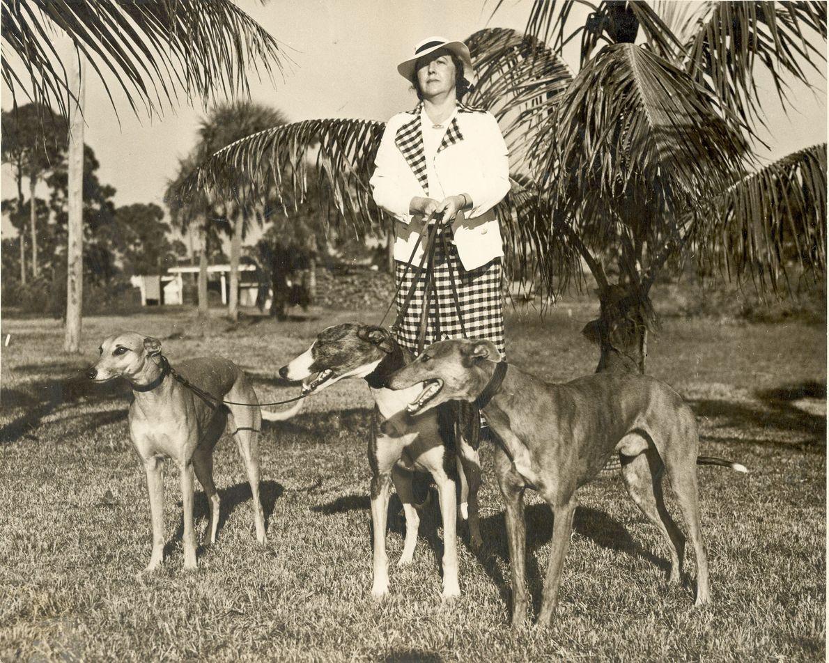 Die Besitzerin und Trainerin Jeanette Eagan ließ von 1925 bis 1980 Hunde in der Derby Lane ...