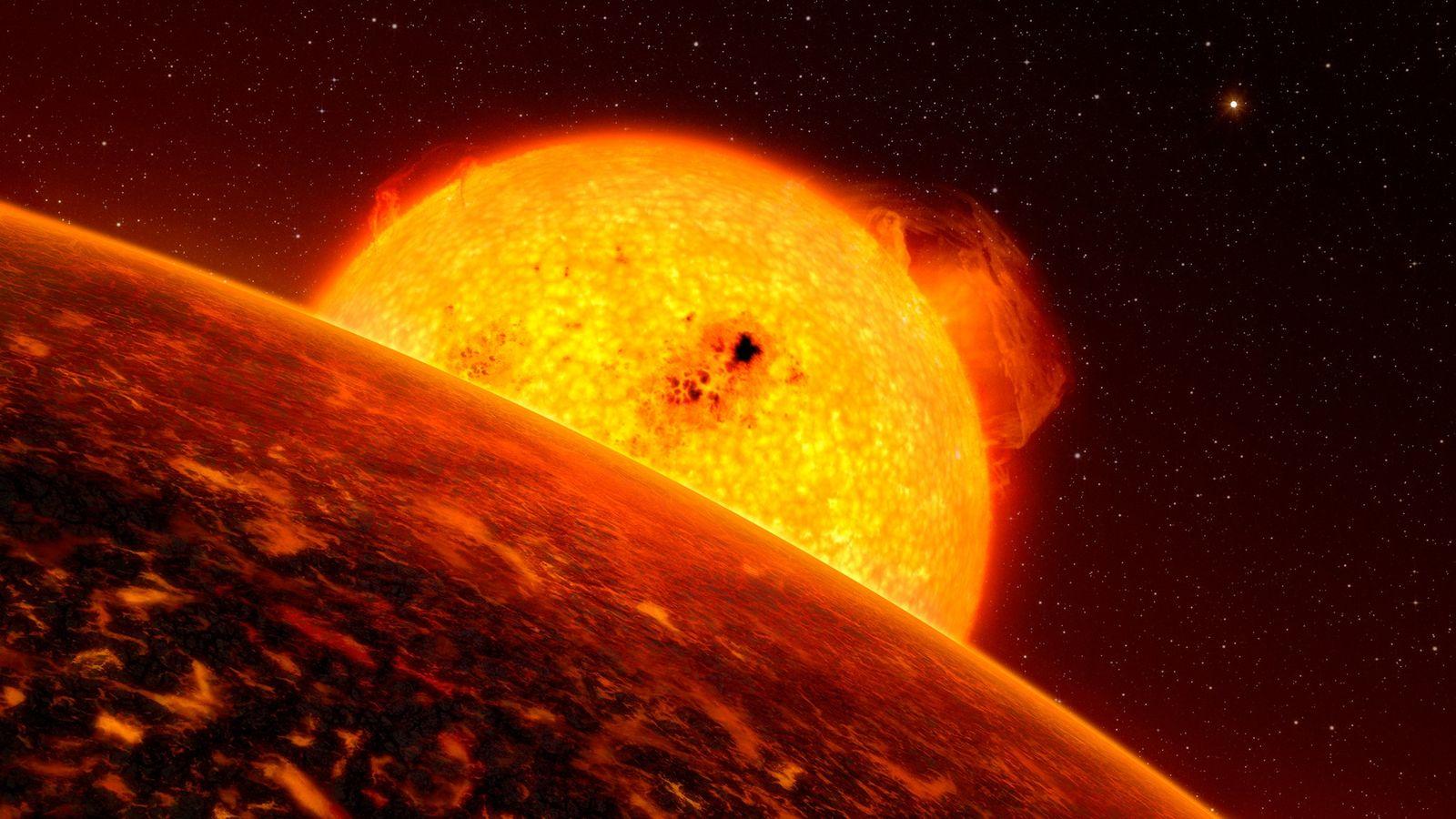 In dieser Illustration umkreist ein Exoplanet seinen Mutterstern. Ein frischer Blick auf die Missionsdaten des NASA-Weltraumteleskops ...